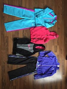 Girls size 6X warm up suits and hoodies