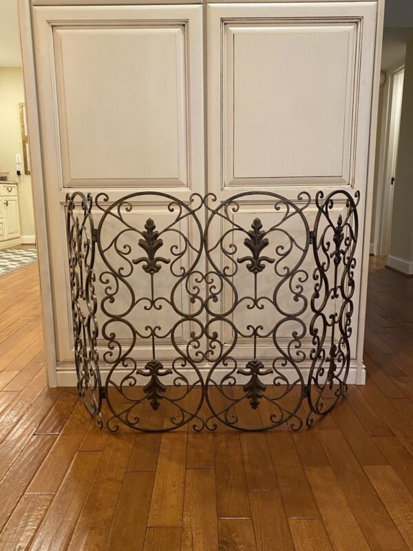 Burnished Gold Decorative Fireplace Screen