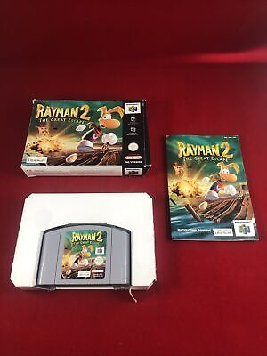 Rayman 2 The Great Escape Game Boxed Manual Nintendo N64 Ubi Soft VGC Collectors
