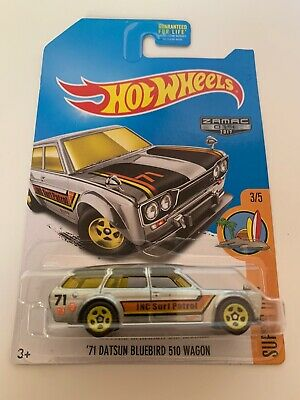 Hot Wheels '71 Datsun Bluebird 510 Wagon Zamac Walmart Exclusive JNC Surf Patrol