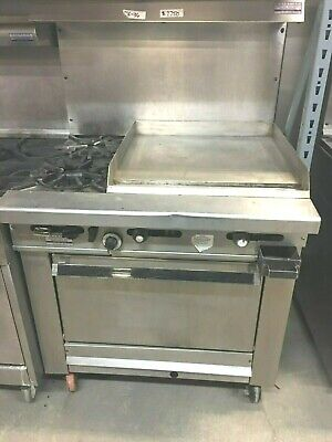 Grill Flat Stove 2 Burners - Oven Imperial Gas 24 X 76 H Stainless Steel Oven