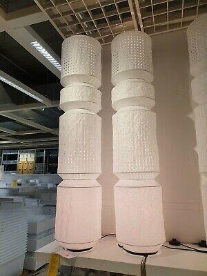 ; A+ Stehleuchte Stehlampe IKEA MAJORNA Standleuchte in weiß//grau; 140cm