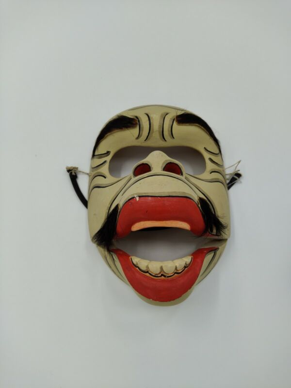 Balinese Topeng Bojog Mask, Wood Monkey Mask with Articulated Mouth
