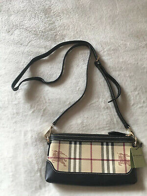 Burberry small clutch Bag Leather Check