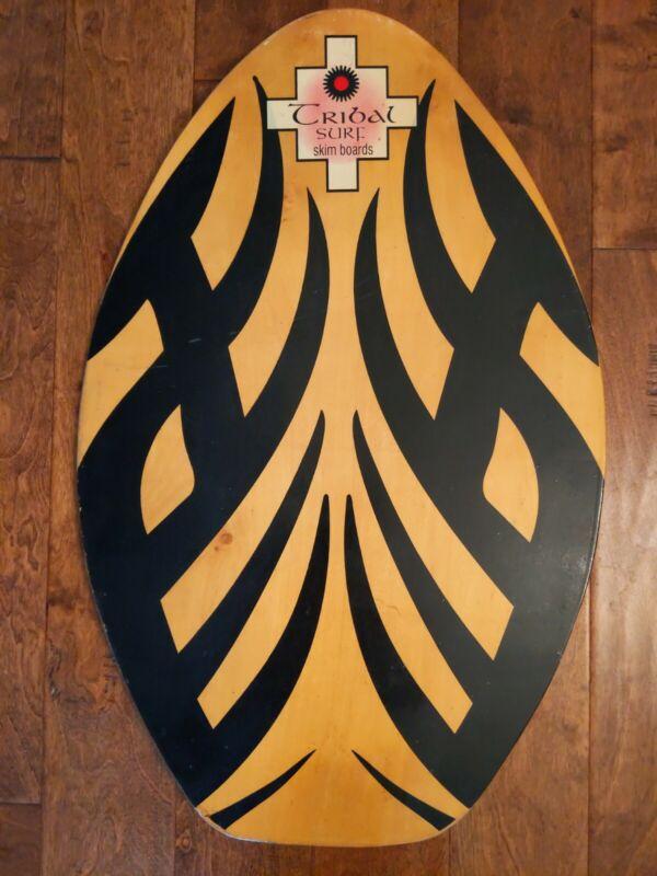 TRIBAL SURF Graphic WOOD Boogie Body SKIM Board Water Sports BEACH