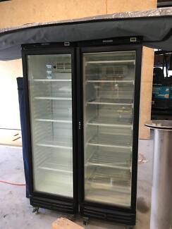 Glass Door Fridge & Freezer