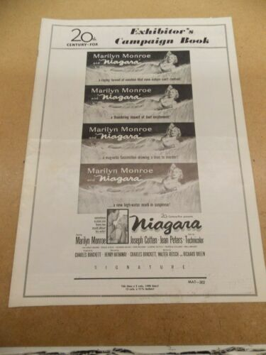 NIAGARA(1953)MARILYN MONROE ORIGINAL PRESSBOOK