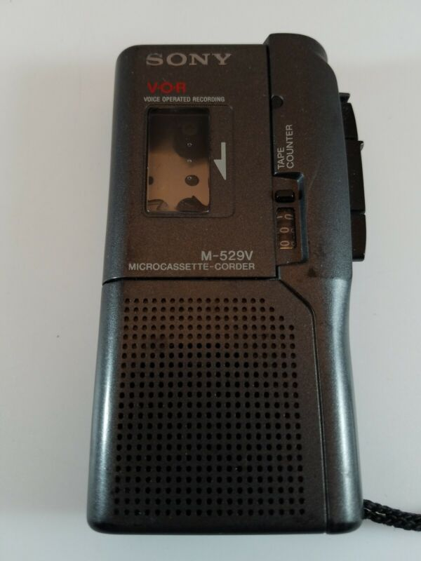 Sony M-529V Micro Casette VOR Recorder Player Tested Working