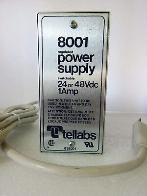 Tellabs 8001 Regulated Power Supply 24 Or 48 Volts Dc Testedworks