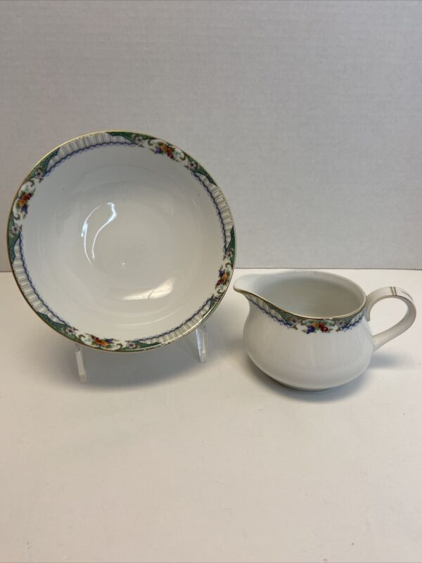 TK Thuny Czechoslovakia De Luxe Cream And Bowl