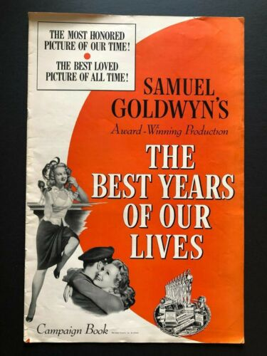 """The Best Years of Our Lives Original Pressbook (1946) - 20 Pages 12"""" x 18"""" EX"""