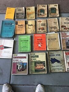 Car manuals, chamberlain tractor manual assorted  MAKE AN OFFER Armadale Armadale Area Preview