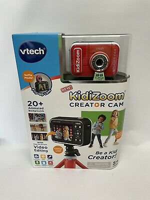 KIDIZOOM Creator Cam VTECH Green Screen HD VIDEO CAMERA For Kids TRIPOD INCLUDED