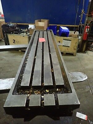 63.75 X 14 X 4.5 Steel T Slot Table Cast Iron Layout Weld Fixture3 Slot