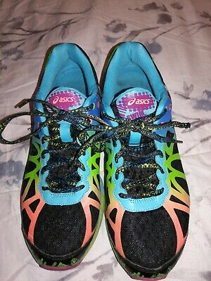 AASICS Gel Noosa Tri 9 T458N Multi Color Womans Marathon Running Shoes Size 9 (Y