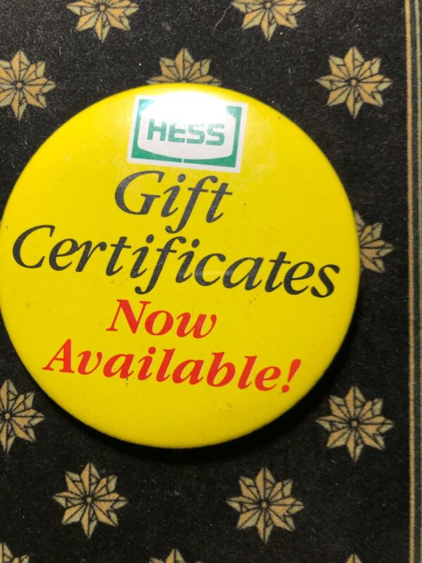 Hess Gift Certificates Now Available Cashier Button