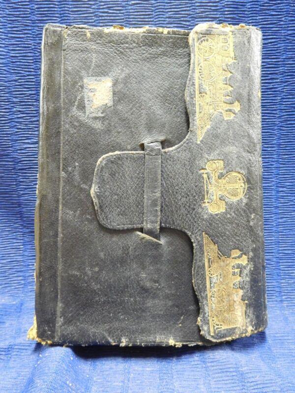 Roper's Handbook of the Locomotive by Stephen Roper Leather Bound 1874