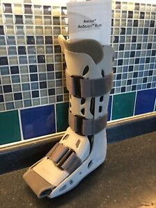 Right foot air boot cast