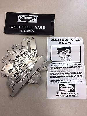 Harris Welding Weld Fillet Gage Gauge MWFG NEW IN PACK FREE SHIPPING