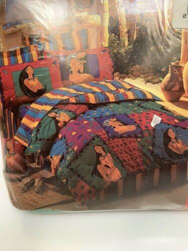 Vintage Pocahontas FULL Bed Sheet Set Disney MADE USA Rare Sealed 4 Pieces NOS