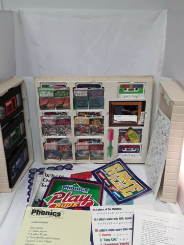 Hooked on Phonics Game VHS Video Cassettes Cards Development Learning Complete