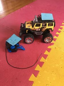 Yellow Remote Control truck