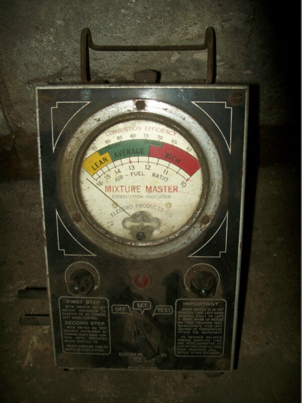 MIXTURE MASTER COMBUSTION INDICATOR TEST TOOL VINTAGE COMBUSTION INDICATOR