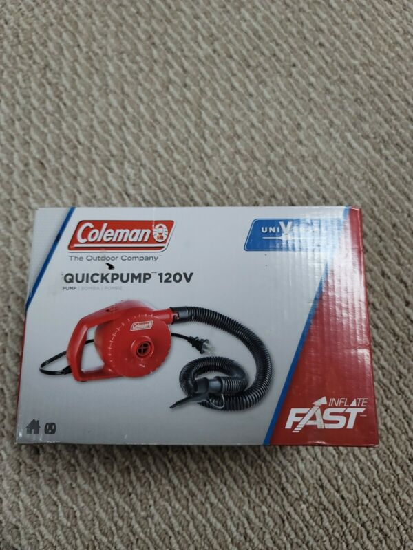 COLEMAN Quickpump 120 V   Universal Airbed Pump   Inflate & Deflate   2000021141