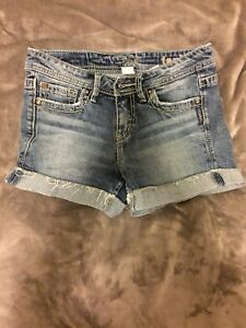 Silver Jean Shorts