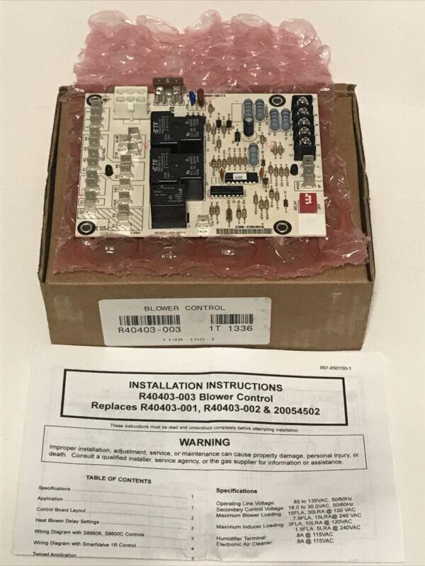 ARMSTRONG BLOWER FAN CONTROL BOARD R40403-003 20054502 & 1138-100 Dukane Rheem +