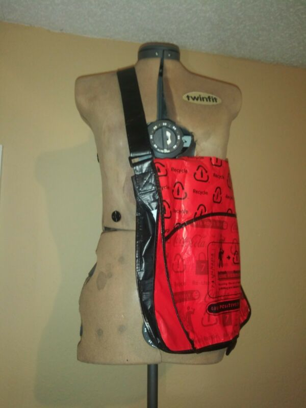 Coca Cola Recyclable Messenger Bag Light weight Adjustable Strap