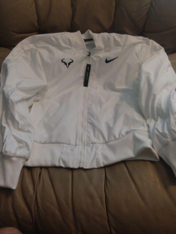 NWT $150 Nike Rafael Nadal Court Full-Zip Tennis Jacket AT4367 100 Sz MEDIUM