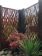 Metal laser cut rust Tree Bark feature wall panel privacy screen Malvern Stonnington Area Preview