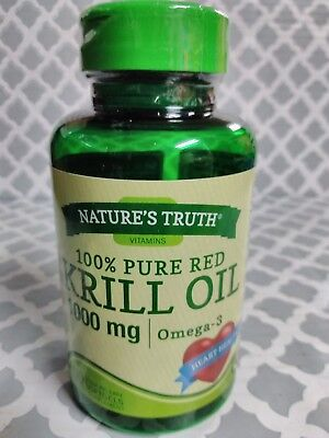 - Natures Truth 100% Pure Red Krill Oil 1000mg Omega 3 Capsules 60 Each