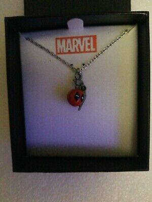 NIB Marvel Deadpool Grenade Officially Licensed Premium Quality Pendant Necklace