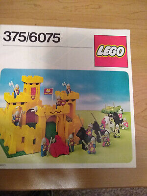 Lego 375/6075 Castle Instructions Only