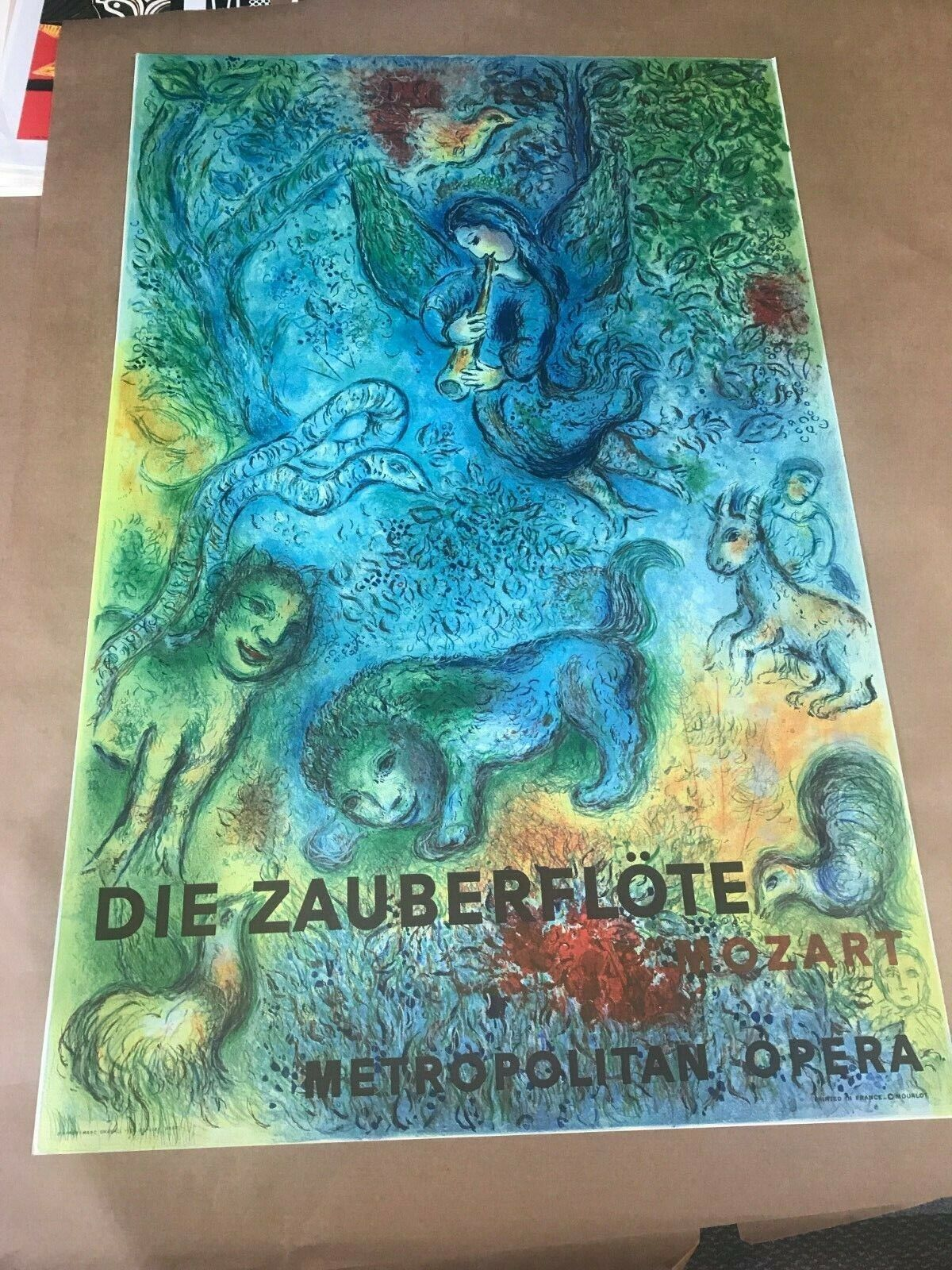 Marc Chagall, Metropolitan Opera, The Magic Flute, Offset Lithograph Print - $5.99