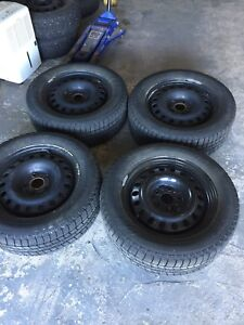 235/55R17 Winter Tires and Rims (5x120)