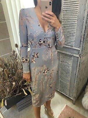Hope And Ivy - Oriental Bird Print Dress - Size 10 - Asos