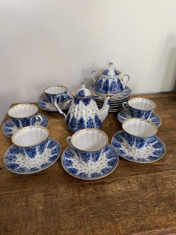 Lomonsov Russian Tea Set 19 Pieces
