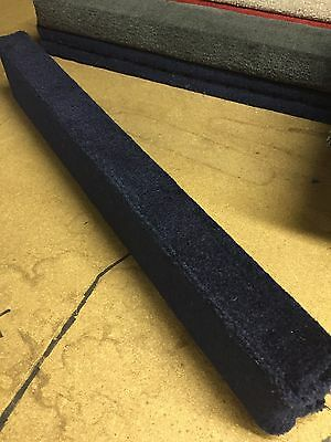 (2) Navy Blue - 6' Boat Trailer Bunk Boards 2x4 - w/ Carpet - Outdoor Marine