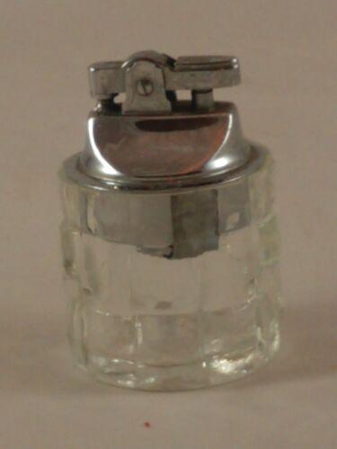 Vintage Clear Glass Square Design Table Lighter