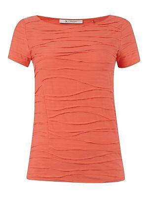 Muster Streifen T-shirts (Monari T-Shirt mit Streifen- und Wellenmuster Damen T-Shirt Koralle)