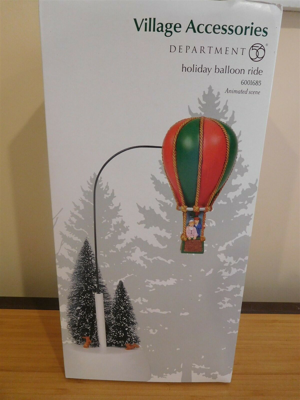 Dept 56 Village Accessories - Animated Holiday Balloon Ride - NIB