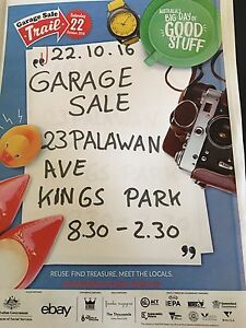 GarageSaleTrail Kings Park Blacktown Area Preview