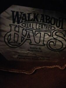 WalkAbout Real Leather hat