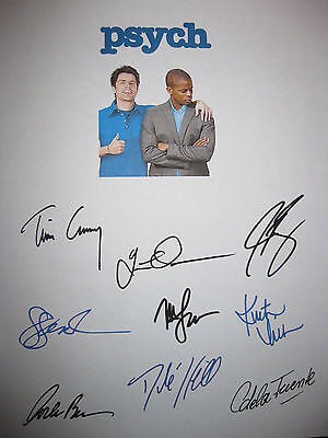 Psych Signed TV Script X9 Duos James Roday Dule Hill Corbin Bernsen reprint
