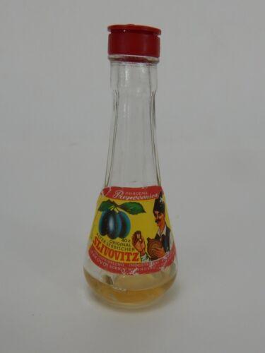 Slivovitz Mini Glass Airline Liquor Bottle (Empty)
