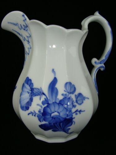 ROYAL COPENHAGEN DENMARK BLUE FLOWER FLUTED PITCHER #8520 MILK CREAMER 6.5