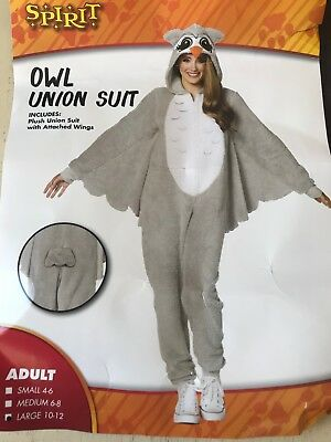 Brand New Halloween Costume Owl Union Suit Woman